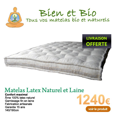 matelas naturel 90x190 interesting ensemble literie biolatex x matelas sommier with matelas. Black Bedroom Furniture Sets. Home Design Ideas
