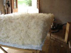 Matelas en laine et latex